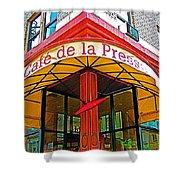 Cafe De La Presse In San Francisco-california  Shower Curtain