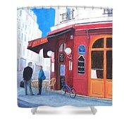 Cafe Des Musees Paris Shower Curtain