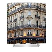 Cafe Francais Shower Curtain