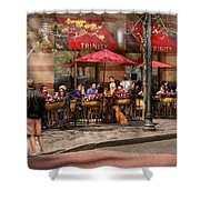 Cafe - Hoboken Nj - Cafe Trinity  Shower Curtain