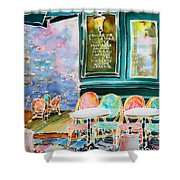 Cafe In Montmartre Shower Curtain