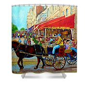 Cafe La Grande Terrasse Shower Curtain