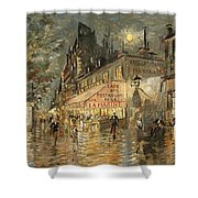 Cafe La Marin. Paris Shower Curtain