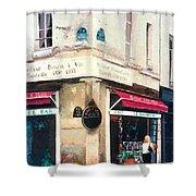 Cafe Le Barometre In Paris Shower Curtain