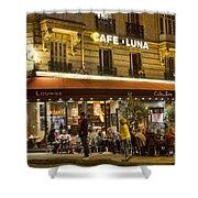 Cafe Luna Shower Curtain