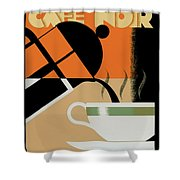 Cafe Noir Shower Curtain