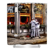 Cafe - The Painters Shower Curtain