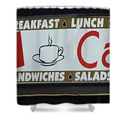 Cafe Time Shower Curtain