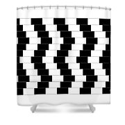 Cafe Wall Illusion Shower Curtain