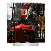 Cafes And Bars Along Crescent Street Shower Curtain