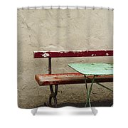 Cafeteria Shower Curtain by Margie Hurwich