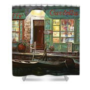 caffe Carlotta Shower Curtain by Guido Borelli