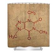 Caffeine Molecule Coffee Fanatic Humor Art Poster Shower Curtain