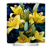 Caged Lilies Shower Curtain