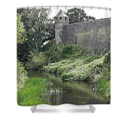 Cahir Castle Wall And River Suir Shower Curtain