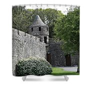 Cahir Castle Wall And Tower Shower Curtain