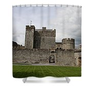 Cahir's Castle Second Courtyard Shower Curtain