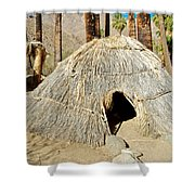 Cahuilla Indian Dwelling In Andreas Canyon In Indian Canyons-ca Shower Curtain