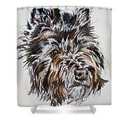 Cairn Terrier Martha Shower Curtain