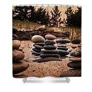 Cairn Whitefish Point Michigan Shower Curtain