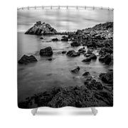 Cairncastle Ruin Shower Curtain
