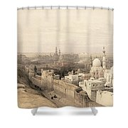Cairo Looking West, From Egypt Shower Curtain