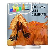 Cake And Wine Shower Curtain