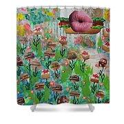 Cake Burger Shower Curtain