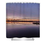 Cal Greenlake Morning Shower Curtain