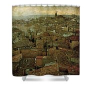 Calahorra Roofs From The Bell Tower Of Saint Andrew Church Shower Curtain