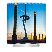 Calatrava Tower - Barcelona Shower Curtain