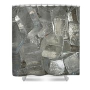 Calcite Crystals Shower Curtain