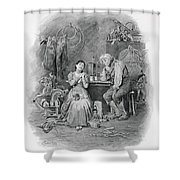 Caleb Plummer And His Blind Daughter Shower Curtain