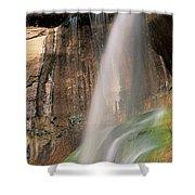 Calf Creek Falls Ut Usa Shower Curtain
