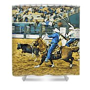 Calf Ropers Shower Curtain