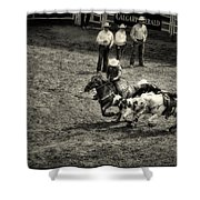 Calgary Stampede Black And White Shower Curtain
