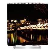 Calgary's Peace Bridge Shower Curtain
