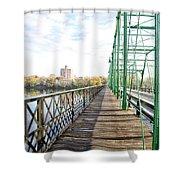 Calhoun Street Bridge Walkway Shower Curtain