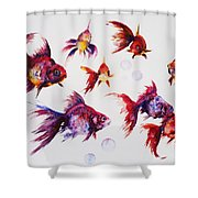 Calico Ryukin Goldfish Shower Curtain