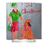 California Christmas Shower Curtain