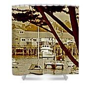 California Coastal Harbor Shower Curtain