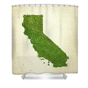 California Grass Map Shower Curtain by Aged Pixel