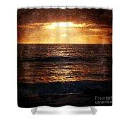 California Grunge Sunset Shower Curtain