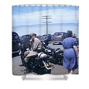California Highway Patrol Harley Davidson Circa 1948 Shower Curtain