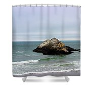 California Ocean Beach Shower Curtain