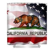 California Republic Within The United States Shower Curtain