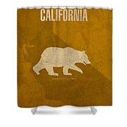 California State Facts Minimalist Movie Poster Art  Shower Curtain by Design Turnpike