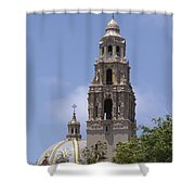California Tower, Balboa Park, San Diego, California Shower Curtain