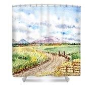 Californian Landscape Saint Johns Ranch Of Mountain Shasta County Shower Curtain