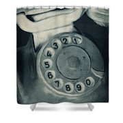 Call Me Yesterday Shower Curtain